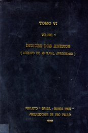 Tomo VI, Volume 1 - Índice dos Anexos - DHnet