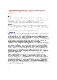 Linguagem e efetivação dos direitos humanos: o desafio do ... - DHnet