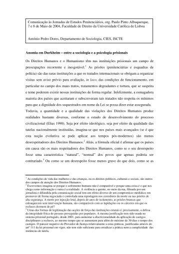 Anomia em Durkheim – entre a sociologia e a psicologia ... - DHnet