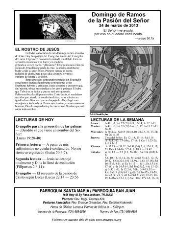 Domingo de Ramos de la Pasión del Señor - Tn.org