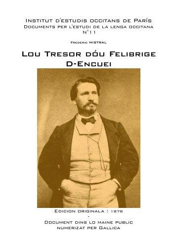 Lou Tresor dóu Felibrige D-Encuei - IEO París - Free