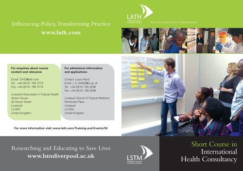 Short Course In International Health Consultancy