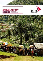 Annual Report 2008 - 2009 - Liverpool School of Tropical Medicine