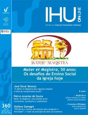 Mater et Magistra, 50 anos: Os desafios do Ensino Social da ... - DHnet