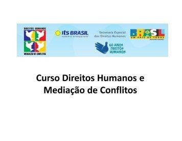 Curso Direitos Humanos e Mediação de Conflitos - DHnet