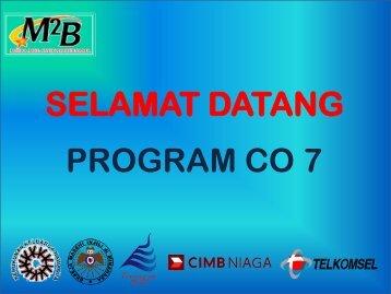 SELAMAT DATANG PROGRAM CO 7