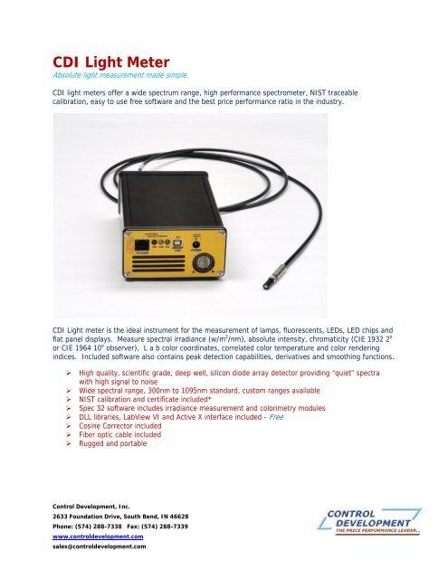 CDI Light Meter - Control Development