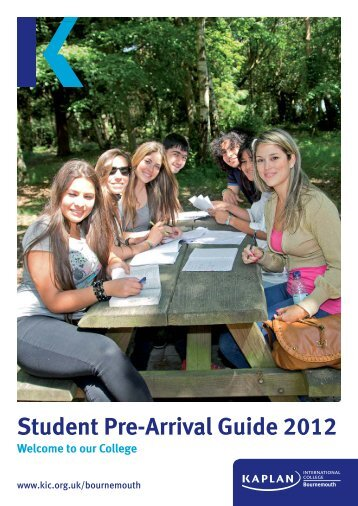 Student Pre-Arrival Guide 2012 - Kaplan International Colleges