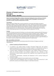 Director of Student Learning - Kaplan International Colleges