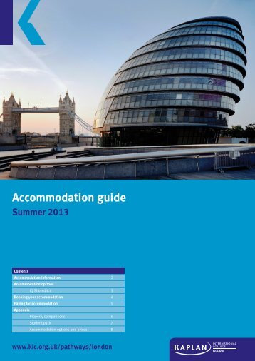 Accommodation guide - Kaplan International Colleges