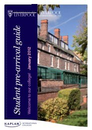 Student pre-arrival guide W - Kaplan International Colleges