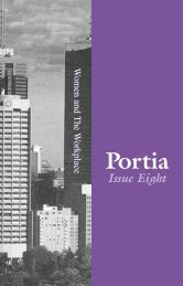 Portia Issue Eight - Victorian Women Lawyers