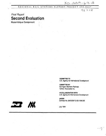 Second Evaluation - part - usaid