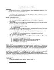 Aquatic Insects Investigation (3rd Grade) Objectives 1. Use physical ...