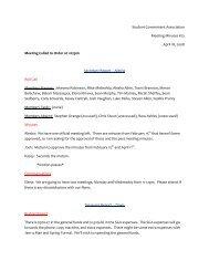 Student Government Association Meeting Minutes #23 April 18 ...