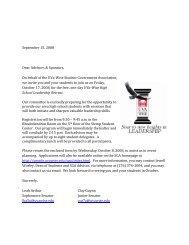 September 15, 2008 Dear Advisors & Sponsors, On behalf of the ...