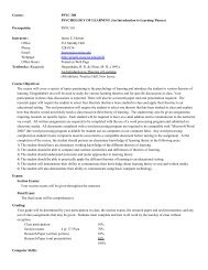 Syllabus - The University of Virginia's College at Wise
