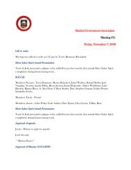 Student Government Association Meeting #11 Friday, November 7 ...