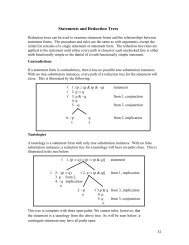 VII. Statements and Reduction Trees