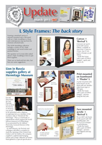 update lion picture framing supplies ltd