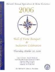 Agricultural & Home Economics Hall of Fame Banquet & Induction ...