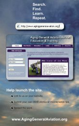 E- Brochure - Aging General Aviation Aircraft Education & Training