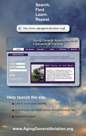 E- Brochure - Aging General Aviation Aircraft Education & Training
