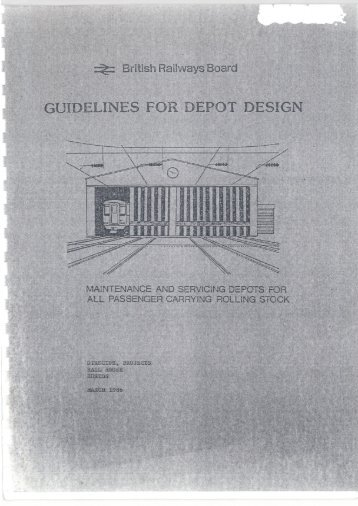 British Railways Board – Guidelines for Depot Design