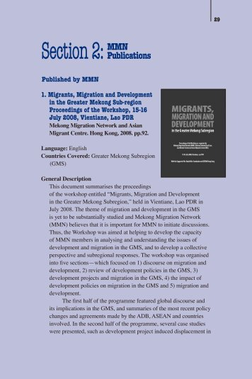 p. 58 (PDF 3.4 MB) - Mekong Migration Network