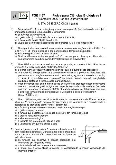 ff4c8e645f9 FGE1187 Física para Ciências Biológicas I