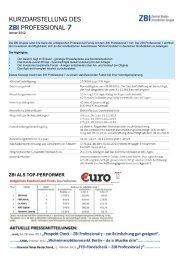 KURZDARSTELLUNG DES ZBI PROFESSIONAL 7 - Heiter Investment