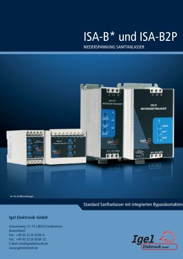 ISA-B* und ISA-B2P - Igel Electric