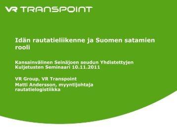 Matti Andersson, VR Transpoint - Seinäjoen seudun elinkeinokeskus