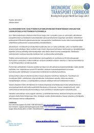 Hankkeen tiedote asiasta (kesäkuu 2013) - NECL II