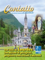 150 anni di Lourdes: - Missione Cattolica Italiana di Monaco