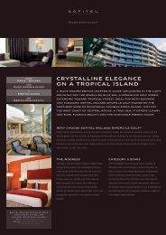 CRYSTALLINE ELEGANCE ON A TROPICAL ISLAND - Sofitel