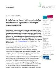 Stars beleuchten digitales Brand Building bei dmexco UBERCLOUD