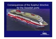 Consequences of the Sulphur directive for the Swedish ports