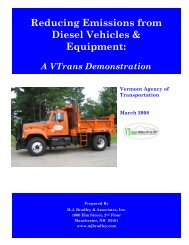 Reducing Emissions from Diesel Vehicles & Equipment:
