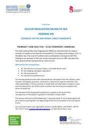SULFUR REGULATION ON BALTIC SEA HEARING ON - NECL II