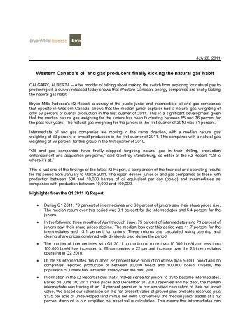read the press release - BMIR - Bryan Mills Iradesso