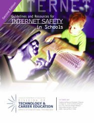 Guidelines and Resources for Internet Safety in Schools