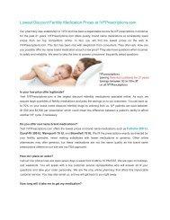 Lowest Discount Fertility Medication Prices at IVFPrescriptions.com