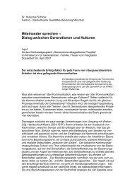 Miteinander sprechen - Interkulturelle Qualitätsentwicklung München