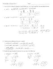 Solutions to Practice QZ