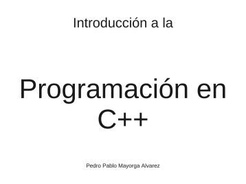 Introduccion a C++