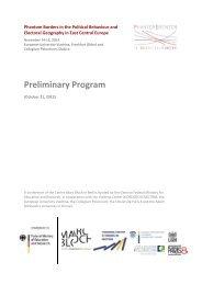 Preliminary Program - European University Viadrina Frankfurt (Oder)