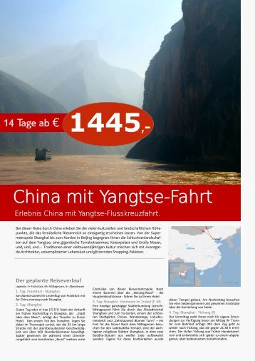 China mit Yangtse-Fahrt - TRAMEX Travel meets experience