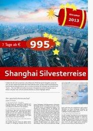 Shanghai Silvesterreise - TRAMEX Travel meets experience