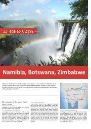 Namibia, Botswana, Zimbabwe - TRAMEX Travel meets experience